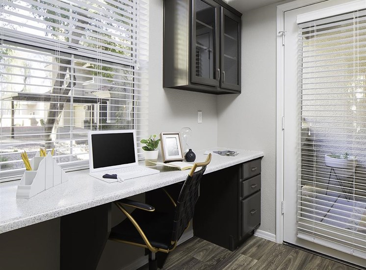 Built in desk at Cambria Apartments in Gilbert AZ