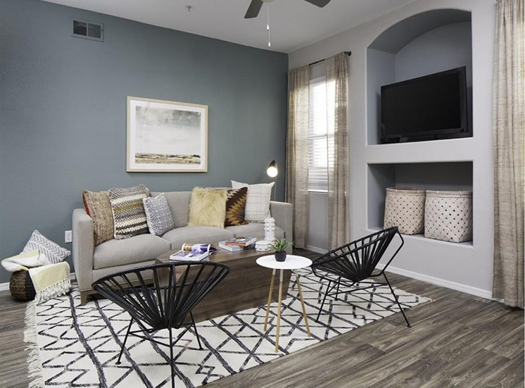 Living room at Cambria Apartments in Gilbert AZ
