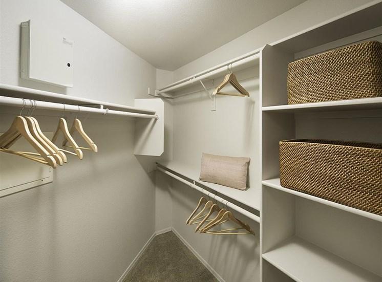 Walk-in closet at Cambria Apartments in Gilbert AZ