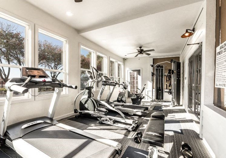 Fitness Center with Cardio Machines and Free Weights