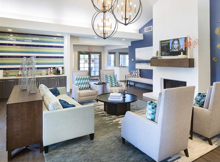 Resident lounge at Array South Mountain Apartments in Phoenix AZ