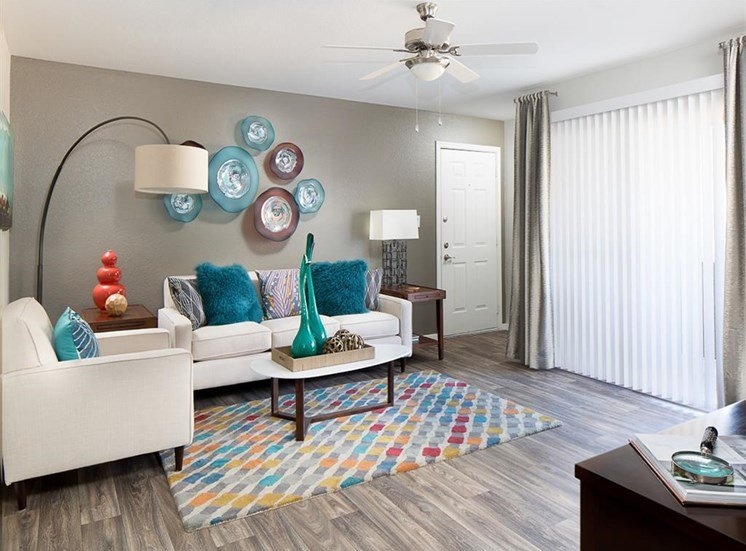 Living room at Array South Mountain Apartments in Phoenix AZ