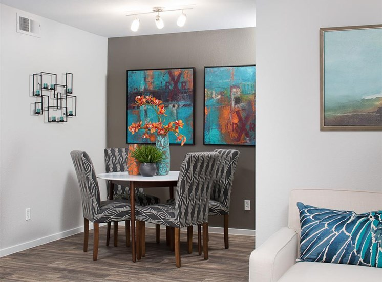 Dining area at Array South Mountain Apartments in Phoenix AZ