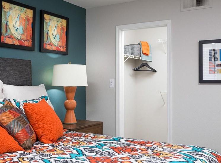 Bedroom closet at Array South Mountain Apartments in Phoenix AZ