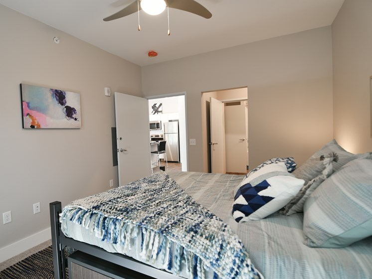 Model Bedroom in CORE Apartments Ames IA