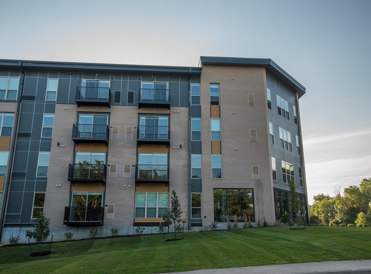 Exterior View of CORE Apartments Ames IA