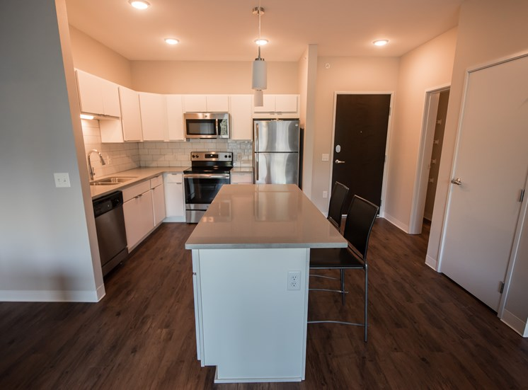Open Kitchen in Model Apartment CORE Ames IA