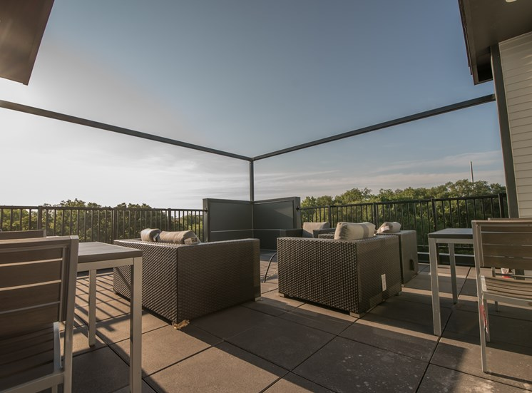 Rooftop Skydeck at CORE Apartments Ames IA