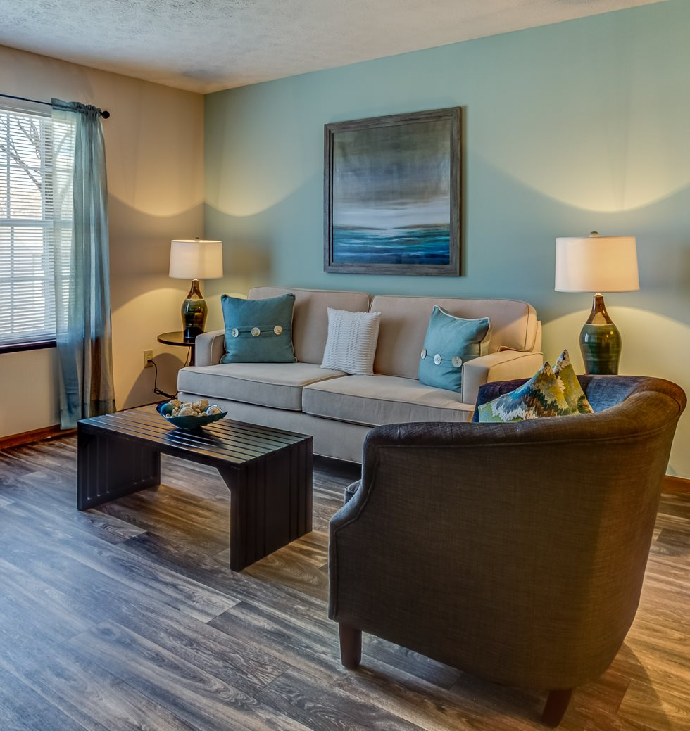 Living space at Lake Forest Apartments in Westerville, OH