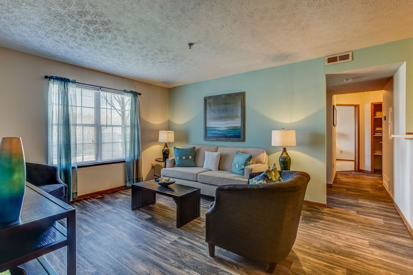 Living room at Lake Forest Apartments in Westerville, OH