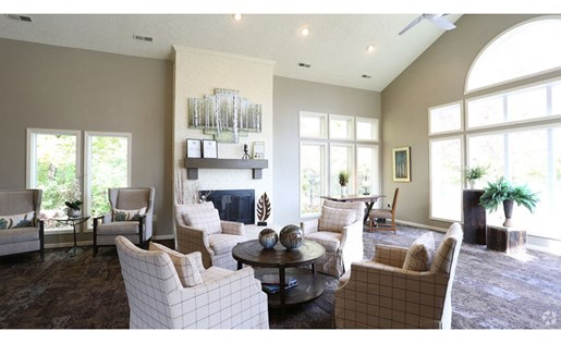 Resident lounge at Lake Forest Apartments in Westerville, OH