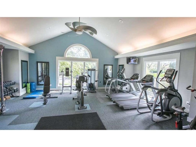Newly upgraded fitness center at Perimeter Lakes Apartments in Dublin Ohio