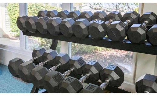 Free weights at Perimeter Lakes Apartments in Dublin Ohio