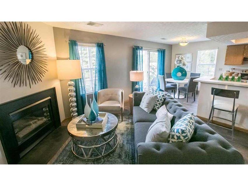 Beautifully upgraded interiors at Perimeter Lakes in Dublin Ohio