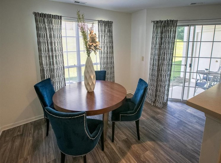 Private patio or balcony at Residence at Christopher Wren in Gahanna, OH