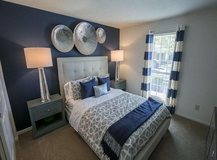 Light filled bedrooms at Residence at Christopher Wren in Gahanna, OH