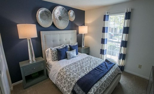 Light filled bedrooms at Residence at Christopher Wren in Gahanna OH