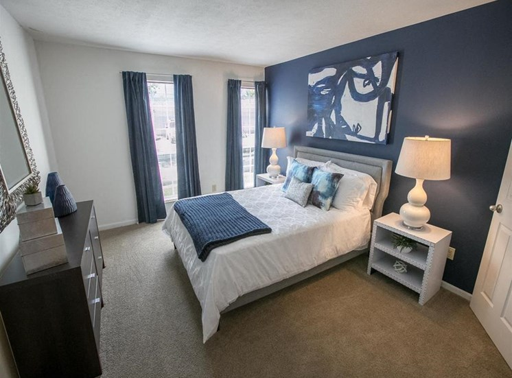 Spacious bedrooms at Residence at Christopher Wren in Gahanna OH