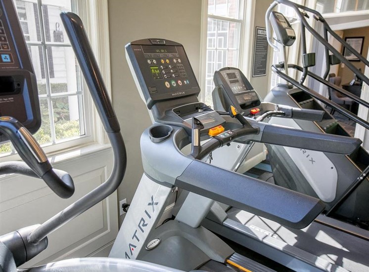 State-of-the-art fitness equipment at Residence at Christopher Wren in Gahnna, OH