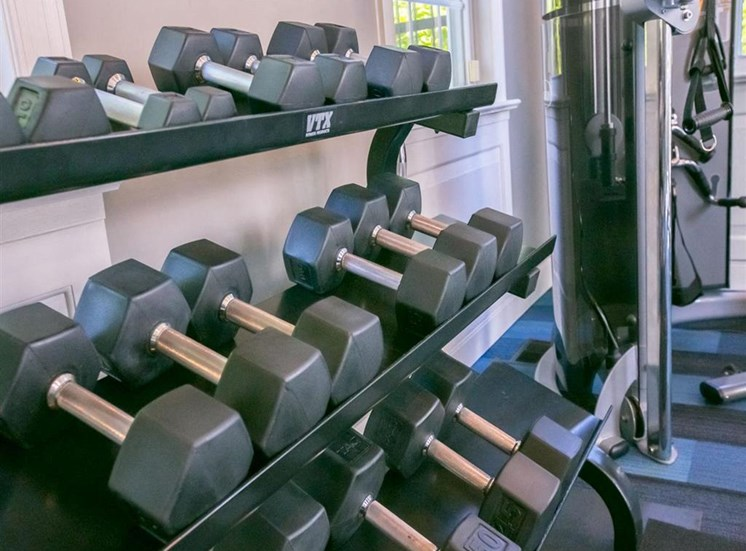 Free weights at Residence at Christopher Wren in Gahanna, OH
