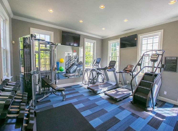 24-hour fitness center at Residence at Christopher Wren in Gahanna, OH