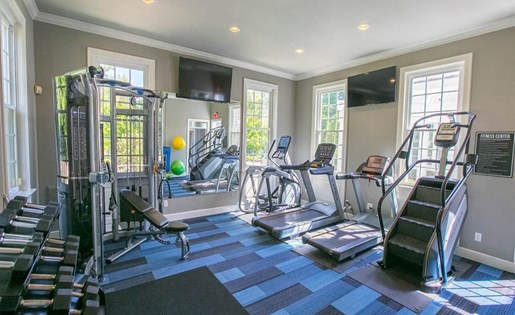 24-hour fitness center at Residence at Christopher Wren in Gahanna OH