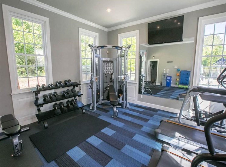 Renovated fitness center at Residence at Christopher Wren in Gahanna OH