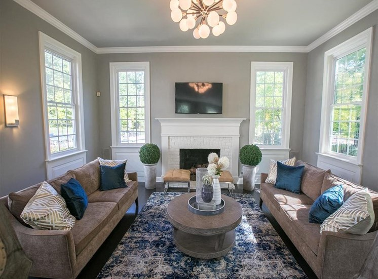 Clubroom available at Residence at Christopher Wren in Gahanna, OH