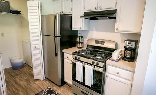 Silver appliances at Residence at Christopher Wren Apartments in Gahanna OH