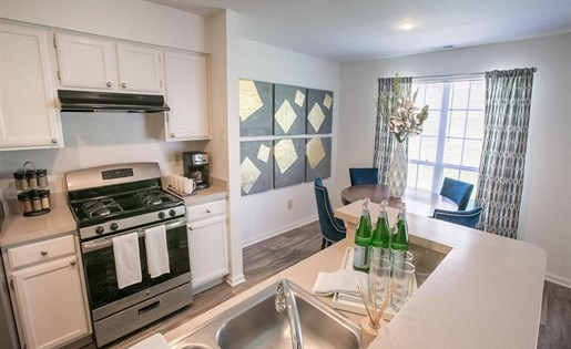 Over-the-stove hood at Residence at Christopher Wren in Gahanna OH