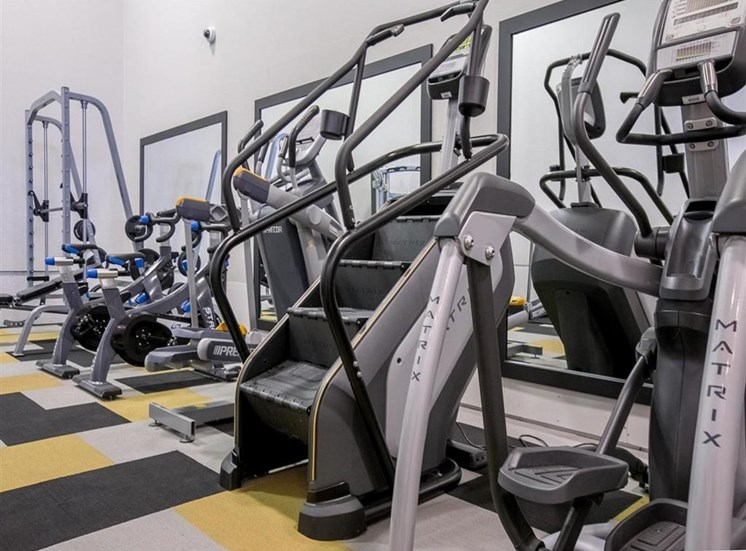 Cardio and free weights at Saw Mill Village Apartments in Columbus OH