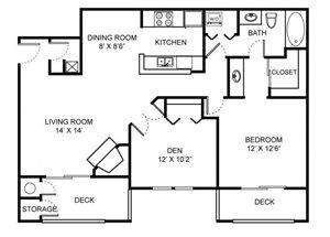 A2D floor plan.
