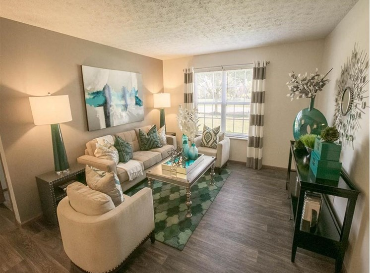 Living Room at Sterling Park Apartments in Grove City Ohio
