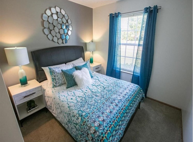 Bedroom at Sterling Park Apartments in Grove City, Ohio