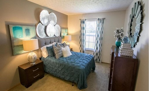 Bedroom at Sterling Park Apartments in Grove City Ohio