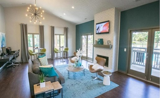 Renovated Clubhouse at Sterling Park Apartments in Grove City Ohio