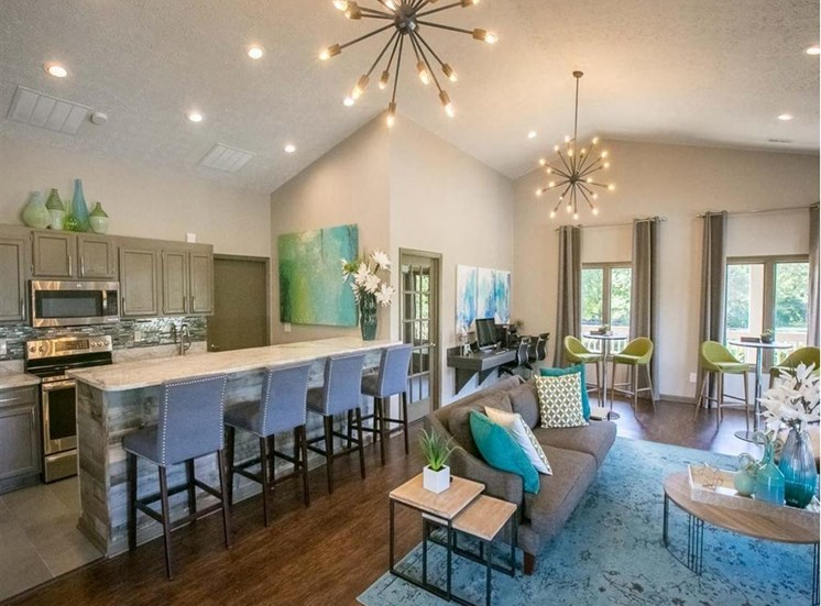 Clubhouse with Kitchen at Sterling Park Apartments in Grove City, Ohio