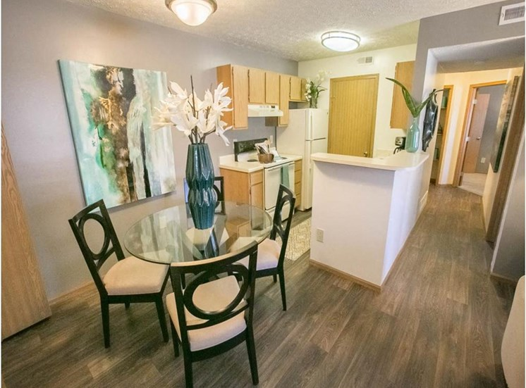 Wood-look flooring at Sterling Park Apartments in Grove City, Ohio