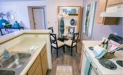 Kitchen at Sterling Park Apartments in Grove City Ohio