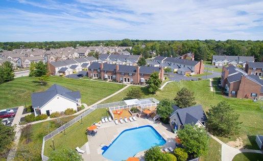 Aerial 2 Heathermoor and Bedford Commons in Columbus OH
