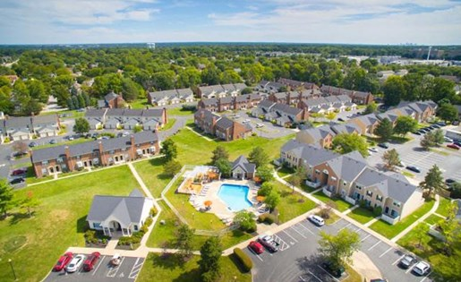 Aerial view of Heathermoor and Bedford Commons in Columbus, Ohio