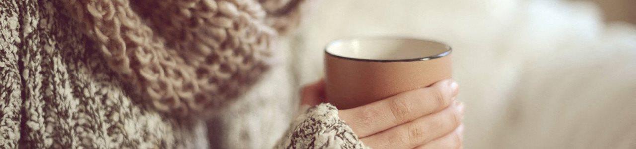 stock image holding mug