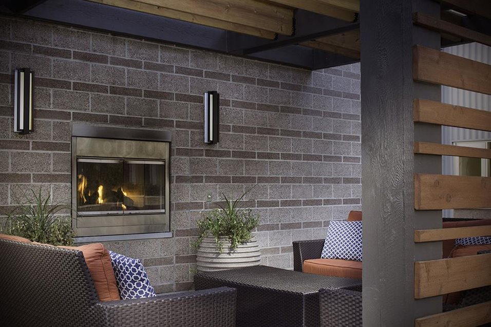 Outdoor Fireplace At Talavera Apartments In Denver Co