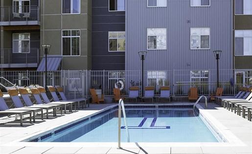 Close up of pool at Talavera in Denver, CO