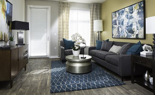 Living and Dining Room at Talavera Apartments in Denver, CO