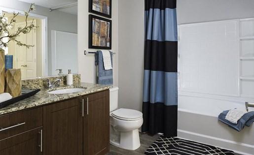 Bathroom at Talavera Apartments in Denver,CO