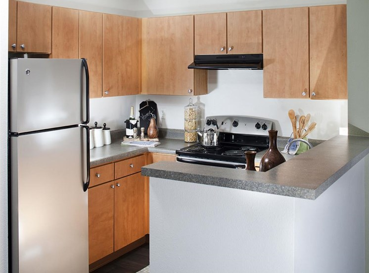 Modern kitchens with updated appliances at Ardenne Apartments in Lafayette, CO located near Boulder, CO