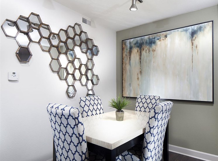 Dining room adjacent to upgraded kitchen at Ardenne Apartments in Lafayette, CO located near Boulder, CO