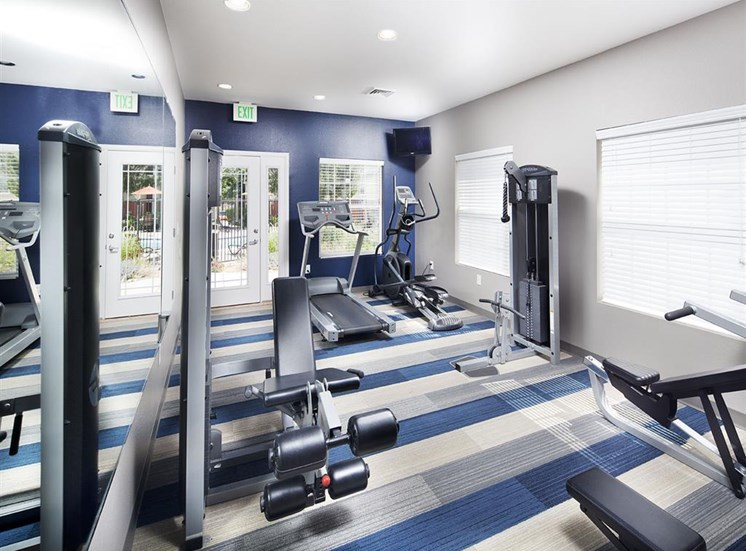 24 hour fitness room at Ardenne Apartments in Lafayette, CO located near Boulder, CO