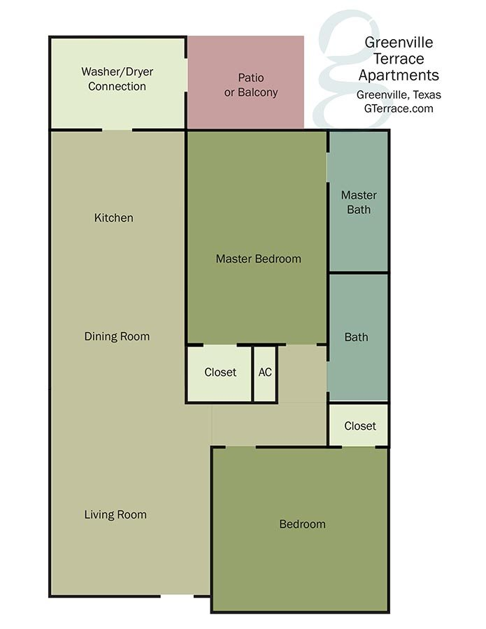 Greenville Terrace Apartments floorplan